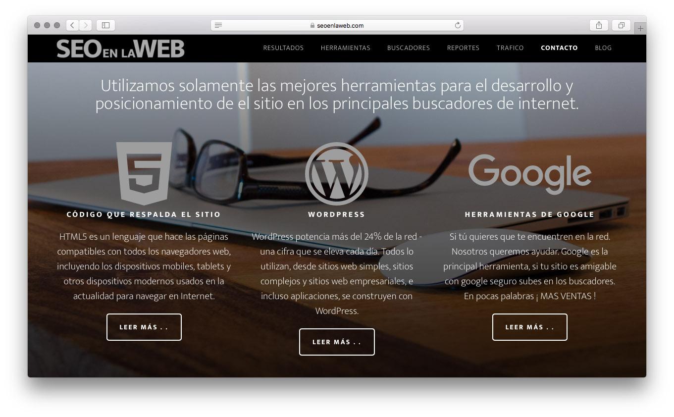 Sitio web SEOenlaWEB.com. PaginasPuebla.com, Diseño de Paginas WEb en Puebla