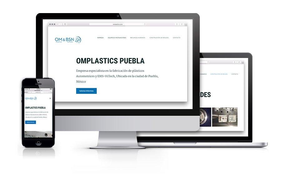 Sitio web omplastics.com. PaginasPuebla.com, Diseño de Paginas WEB en Puebla